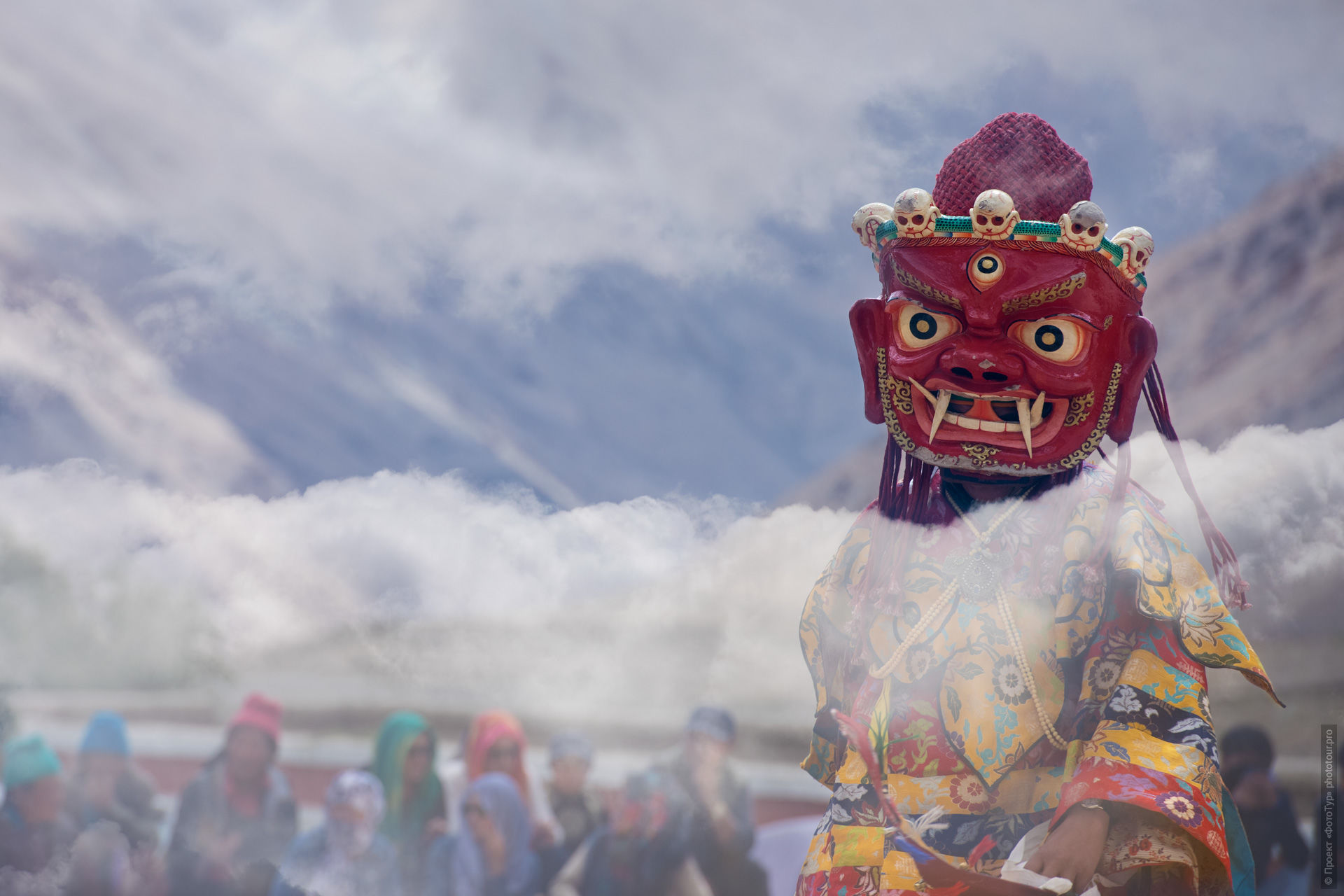 Buddhist Mystery with cham dance performance. Phototour Incredible Himalayas-2: Tsam dance at Tiksei monastery + Tso Moriri lake, Ladakh, Tibet, 11.11.-20.11.2020.